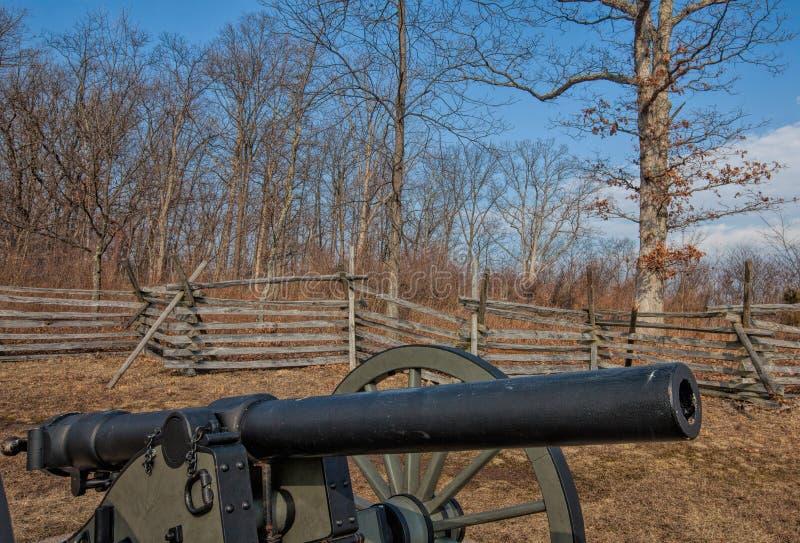 De Kanonnen van Gettysburg--Burgeroorlogkanon royalty-vrije stock fotografie