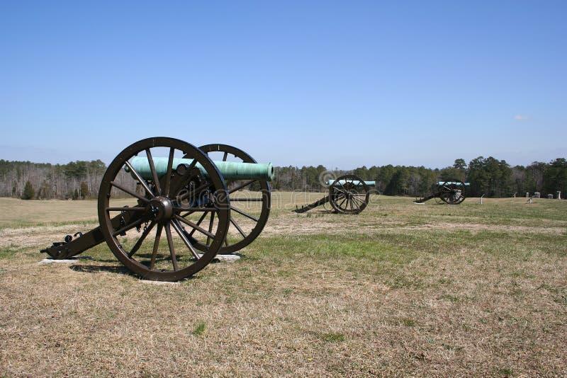 De Kanonnen van het slagveld royalty-vrije stock fotografie