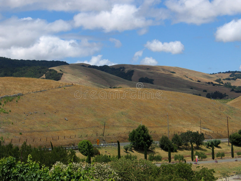 Download De Kant Van De Heuvel Van Sonoma Stock Afbeelding - Afbeelding bestaande uit vallei, bruin: 32765