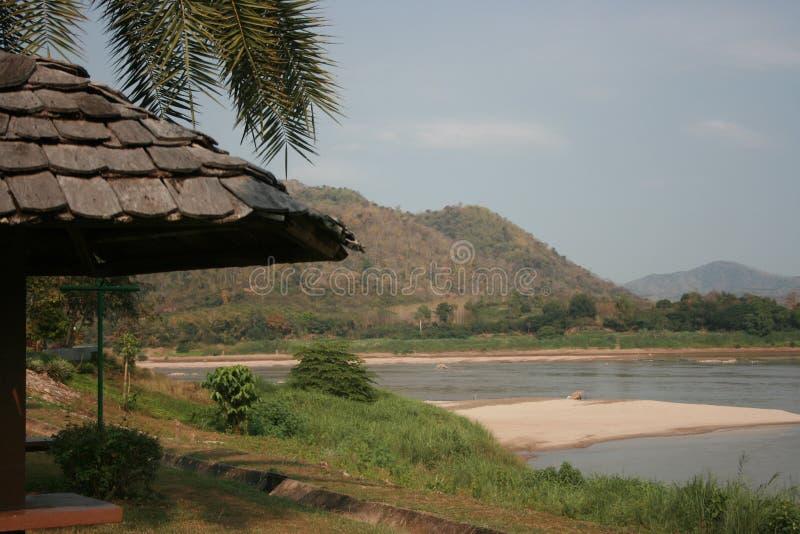 De kant van de Khongrivier stock afbeelding