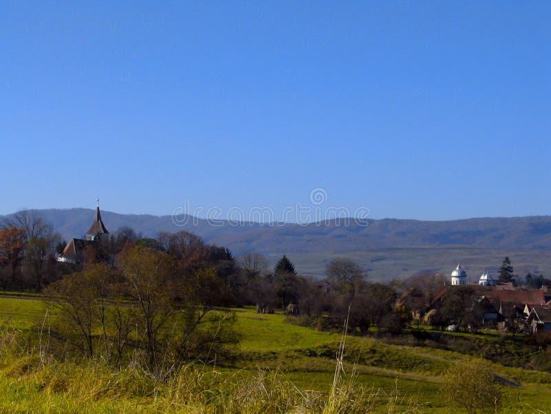 De kant van het land in Roemenië stock foto