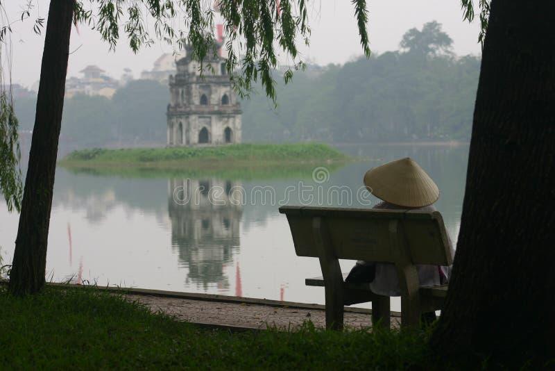 De kant van het meer stock foto