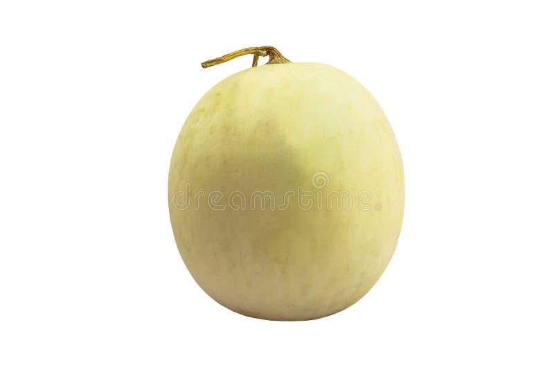 De kantaloepmeloen isoleert witte achtergrond met het knippen van weg stock afbeeldingen