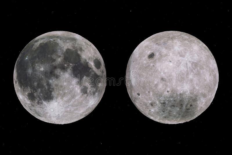 De kanten van de volle maan vector illustratie