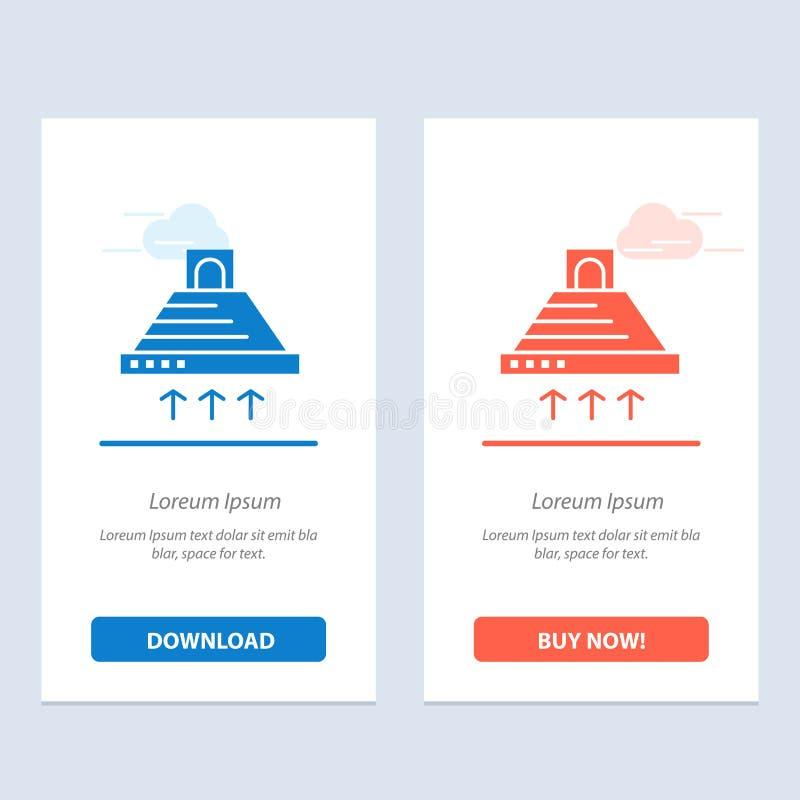 De kap, het Koken, Keuken, Uitlaat, rookt Blauwe en Rode Download en koopt nu de Kaartmalplaatje van Webwidget royalty-vrije illustratie