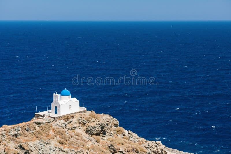 De kapel van 7 Martelaren, Sifnos, Griekenland stock fotografie