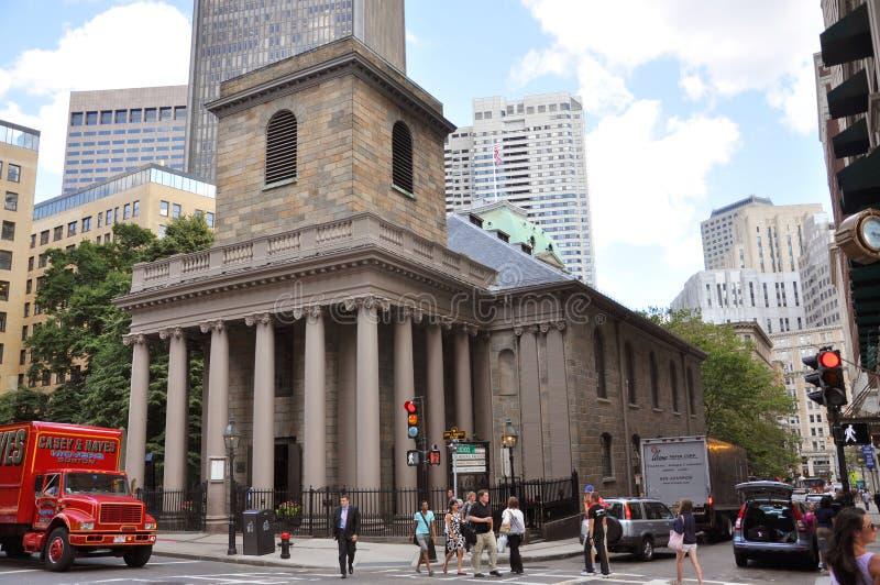 De Kapel van de koning, Boston, de V.S. stock afbeeldingen