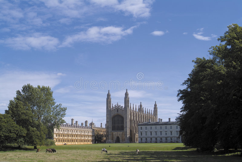 De Kapel van de Universiteit van de koning, Cambridge stock fotografie