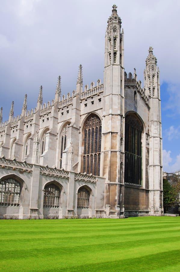 De Kapel van de Universiteit van de koning, Cambridge stock fotografie