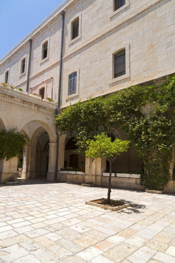 De Kapel van de Flagellatie, Jeruzalem stock foto's