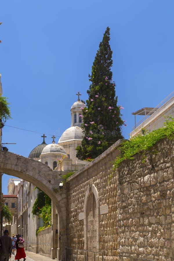 De Kapel van de Flagellatie, Jeruzalem stock fotografie