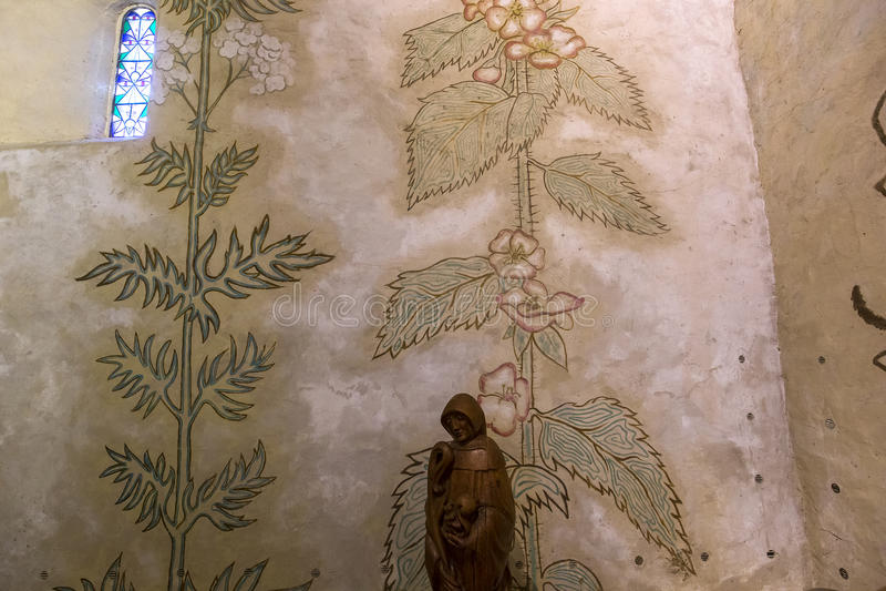 De kapel van heilige Blaise des simples, Milly-La foret, Frankrijk royalty-vrije stock fotografie