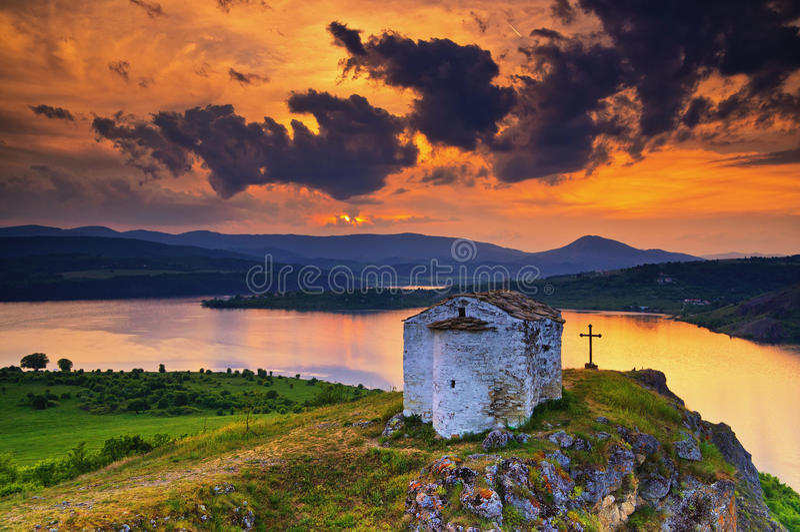 De kapel van heilige Joan Letni, Bulgarije royalty-vrije stock foto's