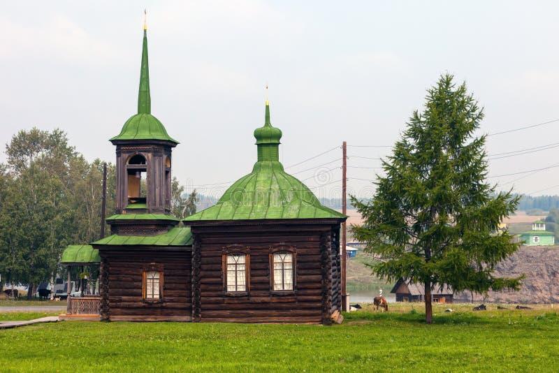De kapel van heiligen Zosima en Savvatii van Solovetsk royalty-vrije stock afbeelding