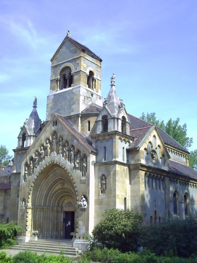 De Kapel van Jak - Gotische kerk in Vajdahunyad-Kasteel Het Vajdahunyadkasteel werd gebouwd in 1896 als deel van Millennial Tento stock foto's