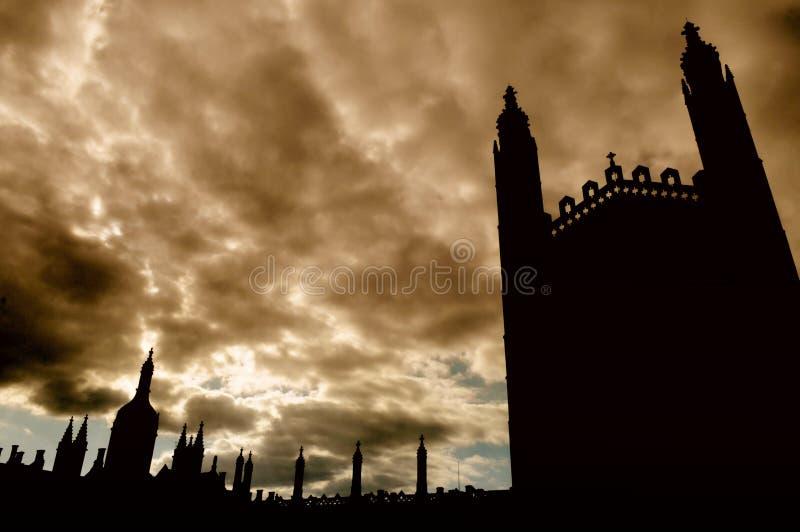 De Kapel van de konings` s Universiteit, Cambridge, Engeland, het UK royalty-vrije stock foto