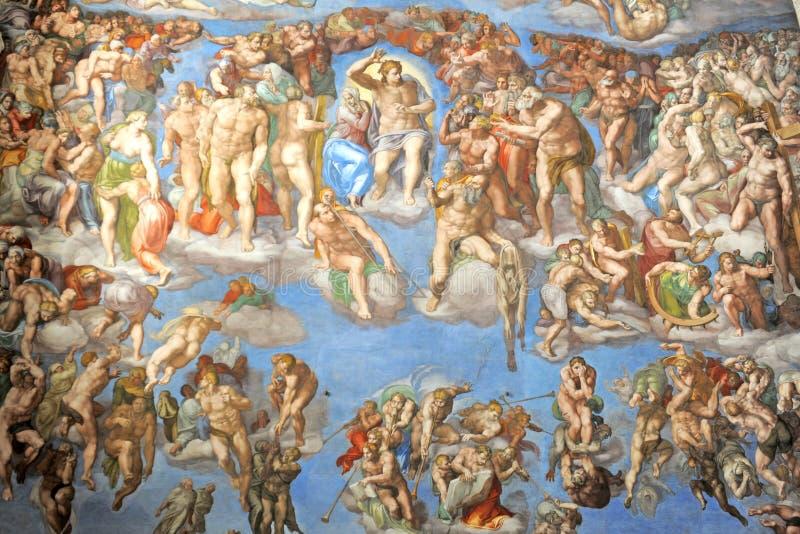 De kapel van Sistine stock fotografie