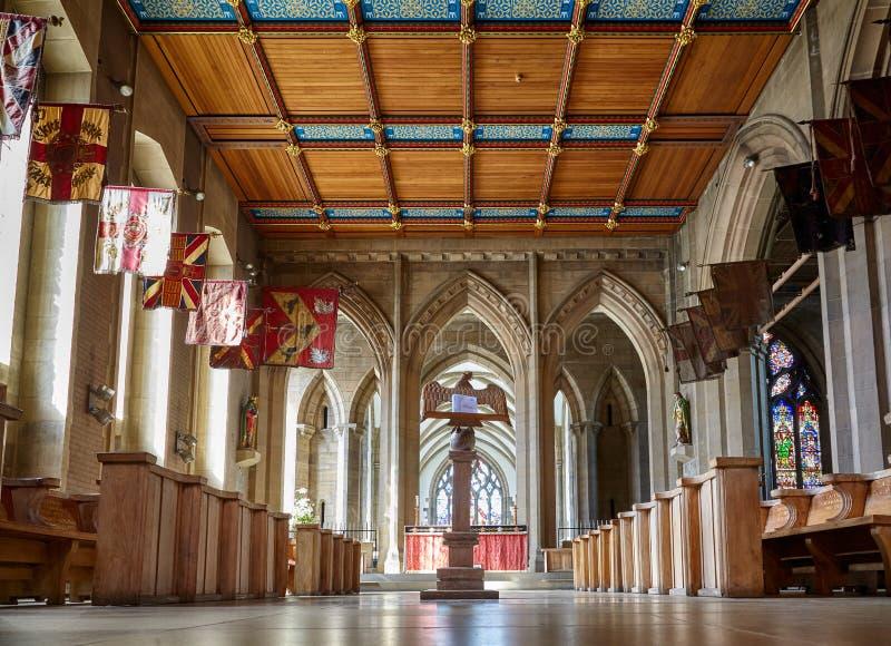 De Kapel van St George in Sheffield Cathedral sheffield engeland stock foto's