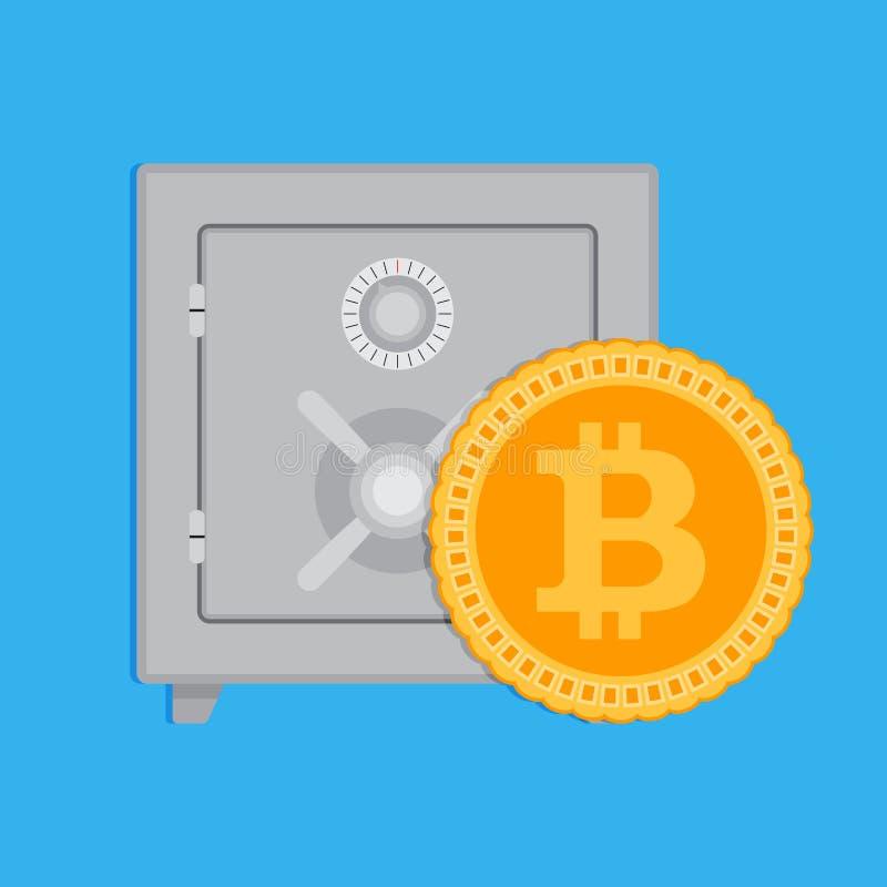 De kapitalisatie van accumulatiebitcoin stock illustratie