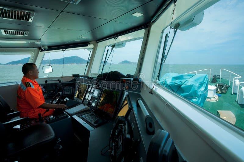 De Kapitein van de Kustwacht van Taiwan stock fotografie