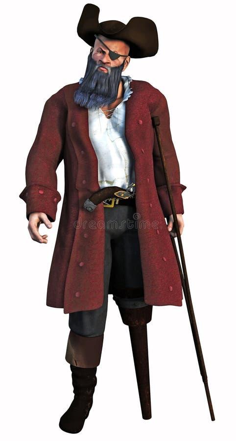 De kapitein van de Piraat stock illustratie