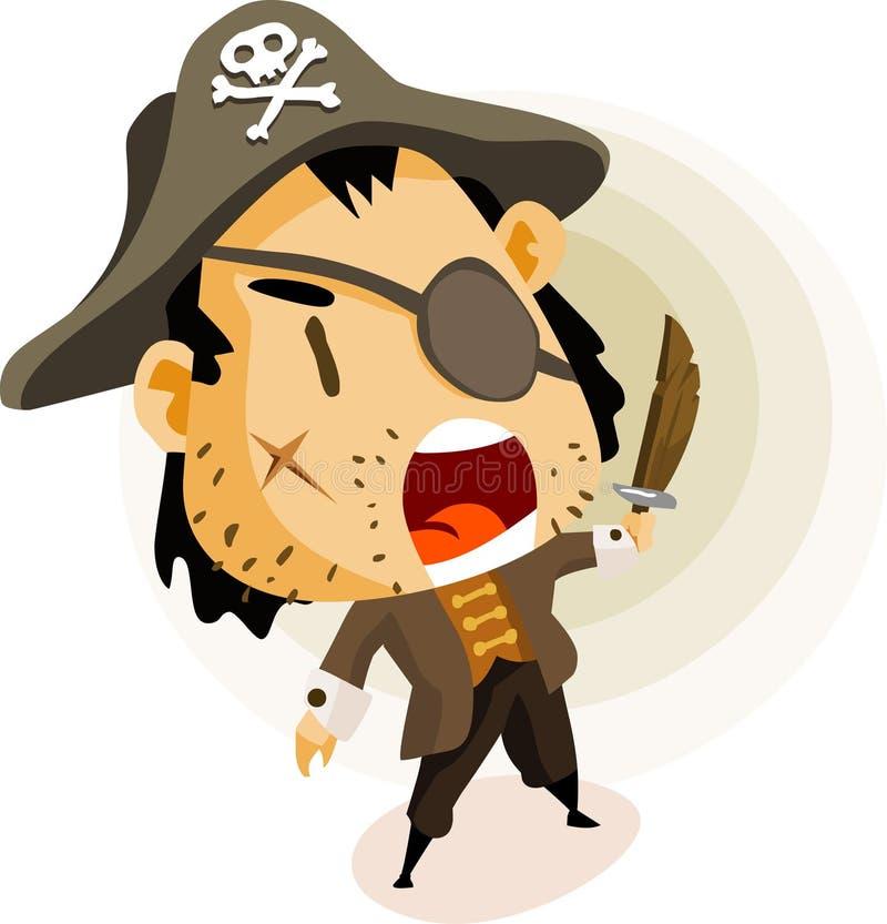 De Kapitein van de piraat royalty-vrije illustratie