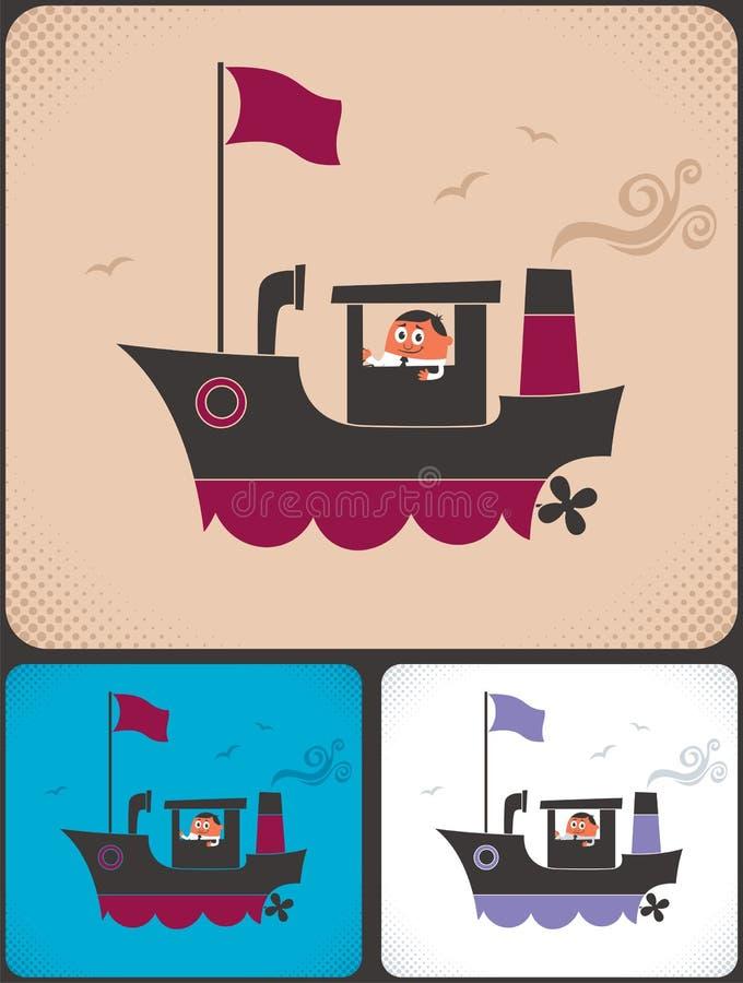 De Kapitein van het schip royalty-vrije illustratie