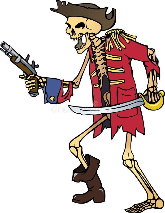 De kapitein van het skelet royalty-vrije illustratie