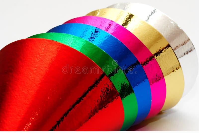 De kappen van de de verjaardagspartij van de kleur stock afbeelding