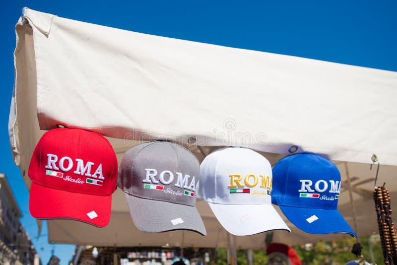 De kappen van Rome voor toeristen stock afbeeldingen