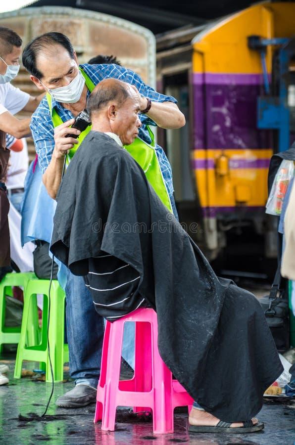De kapper van Thailand stock foto