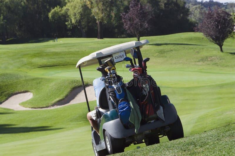 De Kar van het golf die aan groen wordt geleid stock afbeelding