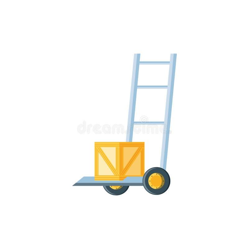 De kar van de leveringsdienst met doos vector illustratie