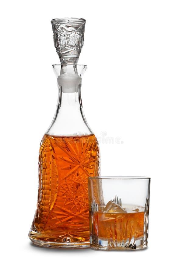 De karaf van de whisky royalty-vrije stock foto's