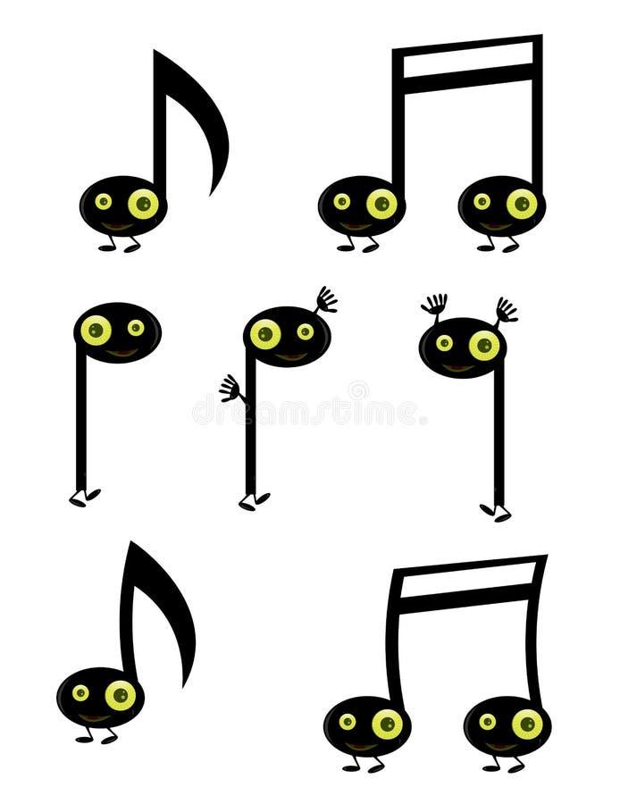 De karakters van de muzieknoot royalty-vrije illustratie
