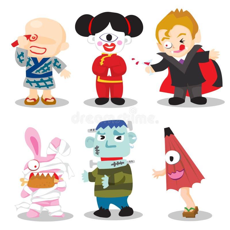 De Karakters van Halloween vector illustratie
