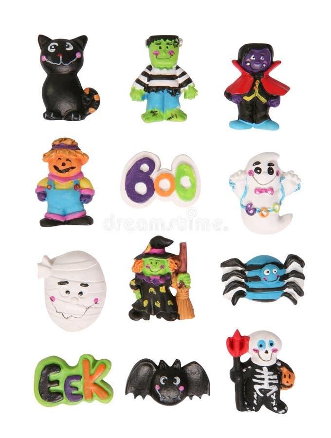 De Karakters van Halloween stock afbeeldingen