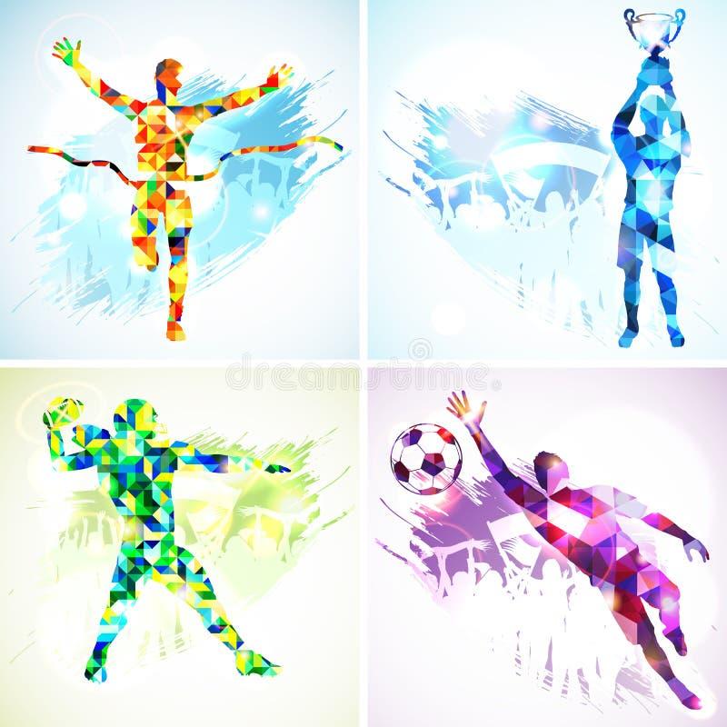 De karakters van het beeldverhaal en van de sport royalty-vrije illustratie