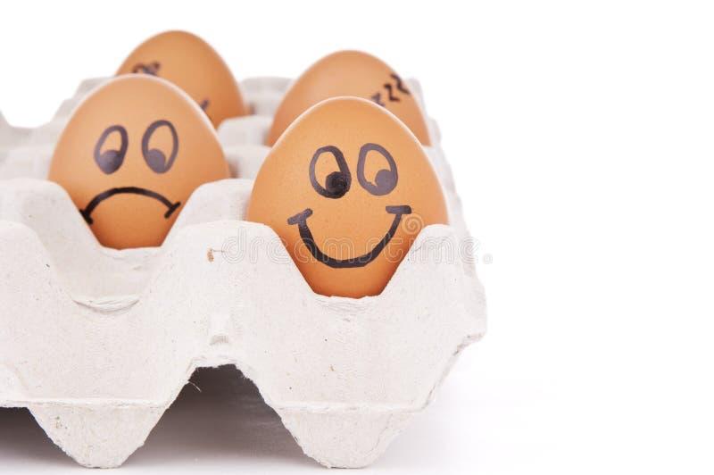 De Karakters van het ei stock foto's