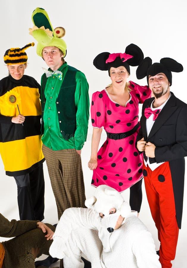 De karakters van het theater stock afbeelding