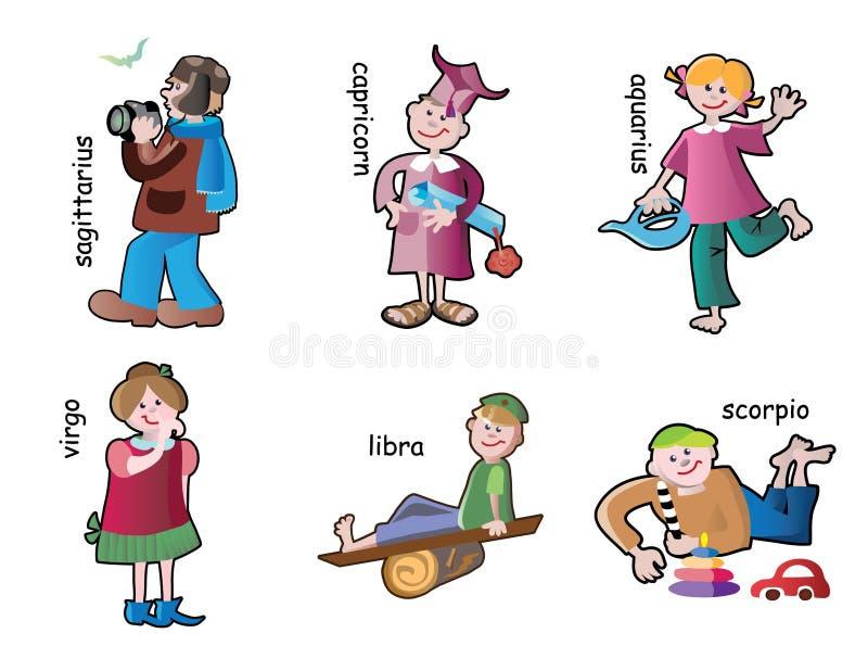 De karakters van kinderen royalty-vrije illustratie