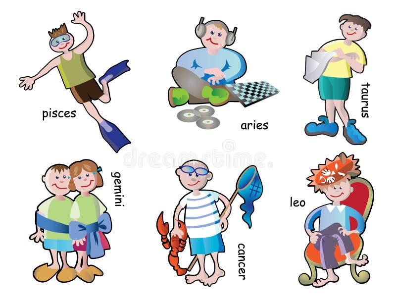 De karakters van kinderen stock illustratie