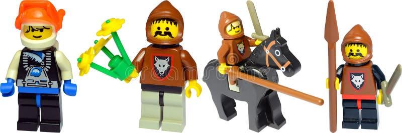 De Karakters van Lego stock fotografie