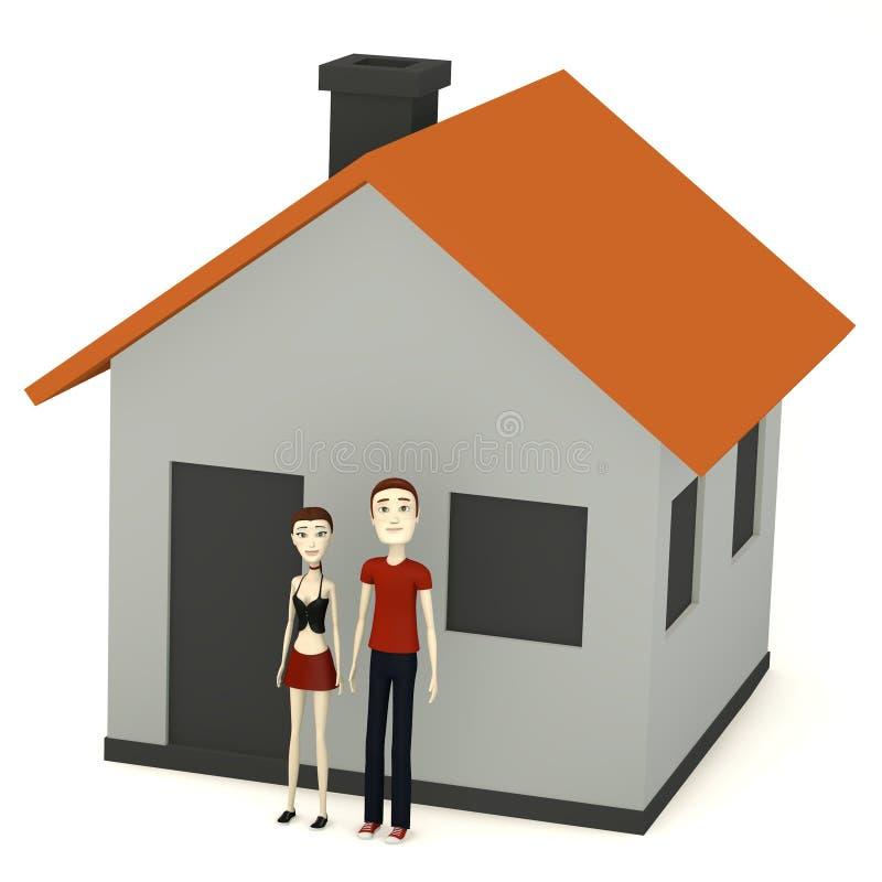 Download De Karakters Voor Beeldverhaal Huisvesten Stock Illustratie - Illustratie bestaande uit render, mens: 29504877