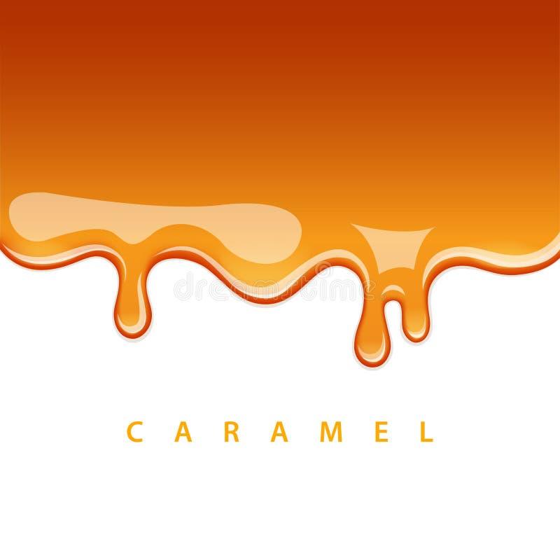 De karamel stroomt neer royalty-vrije illustratie