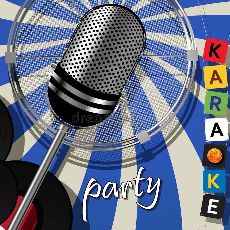De karaoke van de partijkaart stock illustratie