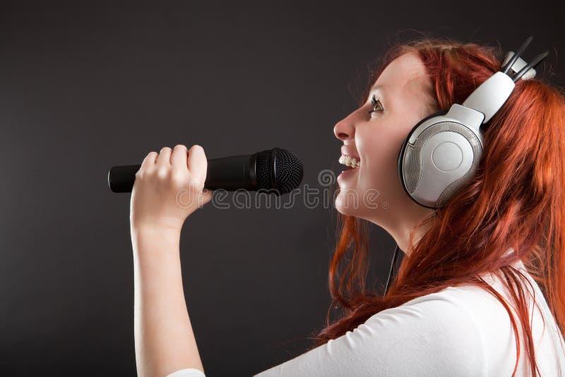 De karaoke van de pret stock afbeelding