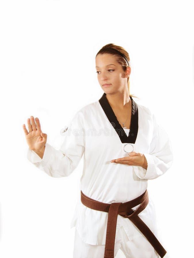 De Karate van de vrouw royalty-vrije stock fotografie