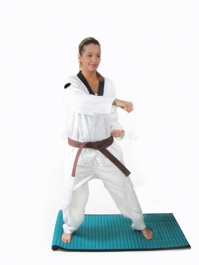 De Karate van de vrouw stock foto
