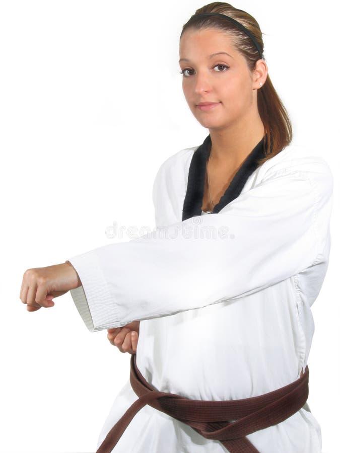 De Karate van de vrouw royalty-vrije stock afbeeldingen